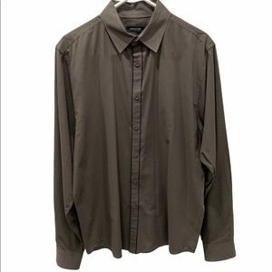 STRUCTURE Brown Pinstripe Long Sleeve